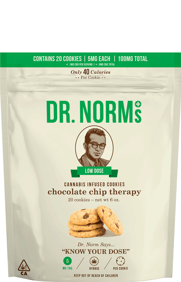 Chocolate Chip Cookies Regular Dose 10mg THC – 10 cookies