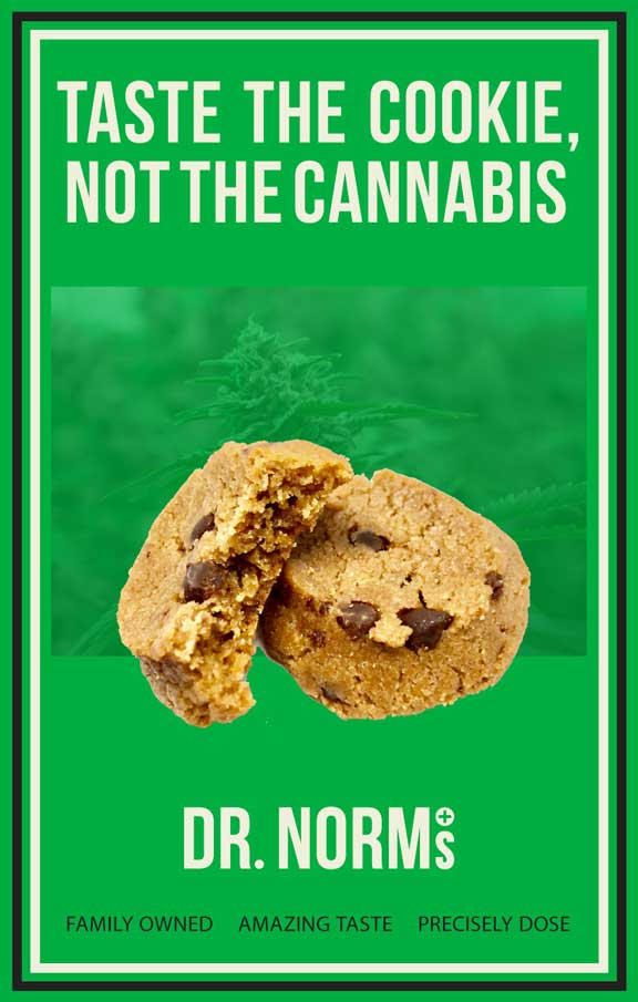 Taste the cookie, not the cannabis!